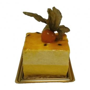 Passie mango dessert gebak (suikerarm)