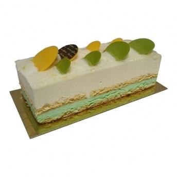 Dessert schnitte limoen kwark