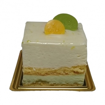 Limoen kwark dessert gebak
